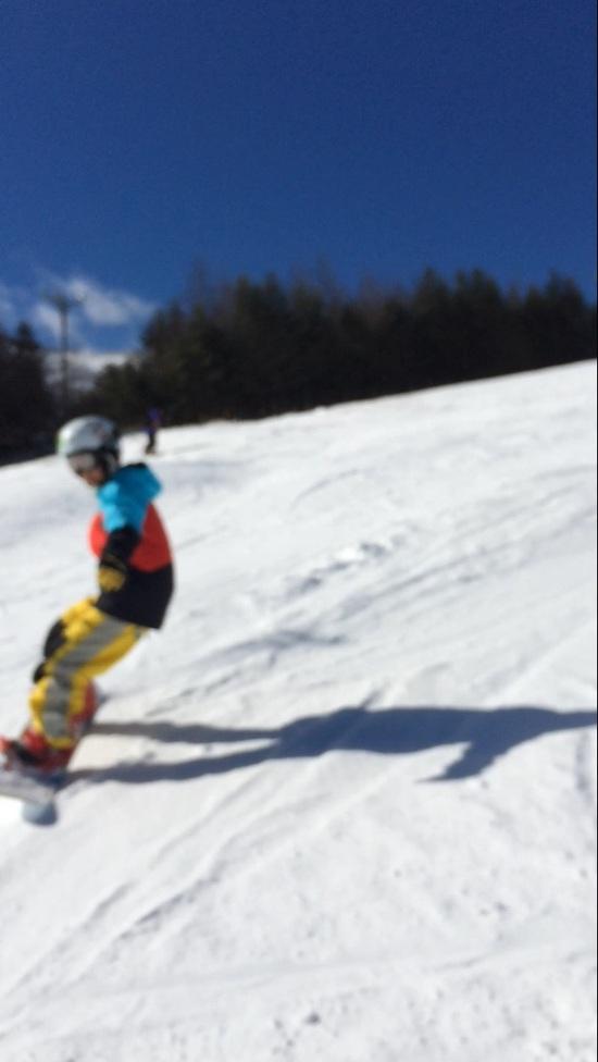 雪は少なめ|車山高原SKYPARKスキー場のクチコミ画像