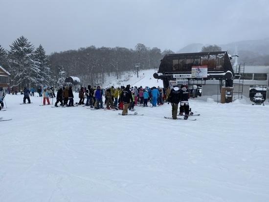 クワッドリフトは混む|たんばらスキーパークのクチコミ画像