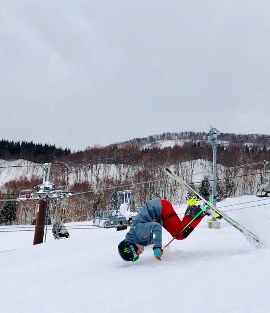ガン着1秒前!!!|鳥海高原矢島スキー場のクチコミ画像1
