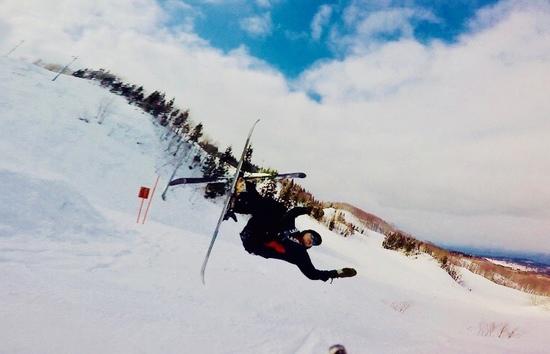 ガン着1秒前!!!|鳥海高原矢島スキー場のクチコミ画像2