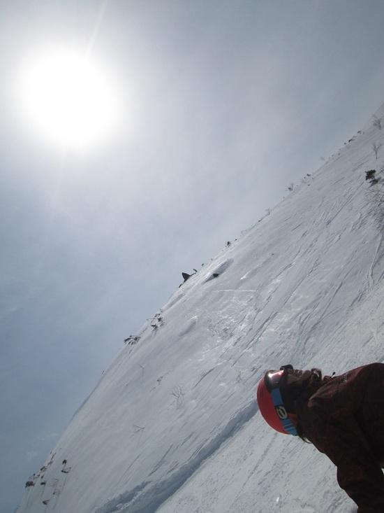 沢コースの太陽|白馬岩岳スノーフィールドのクチコミ画像