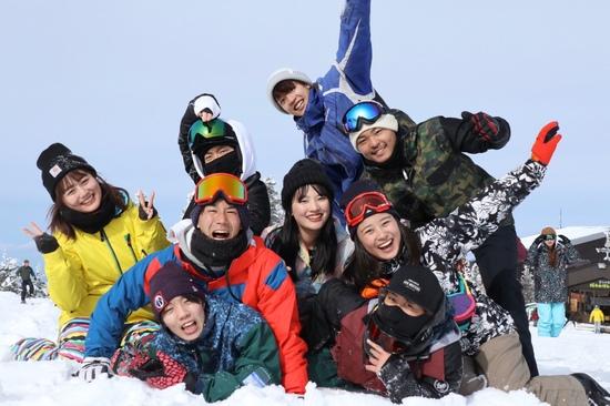 雪上では皆わんぱくだ。|志賀高原 熊の湯スキー場のクチコミ画像