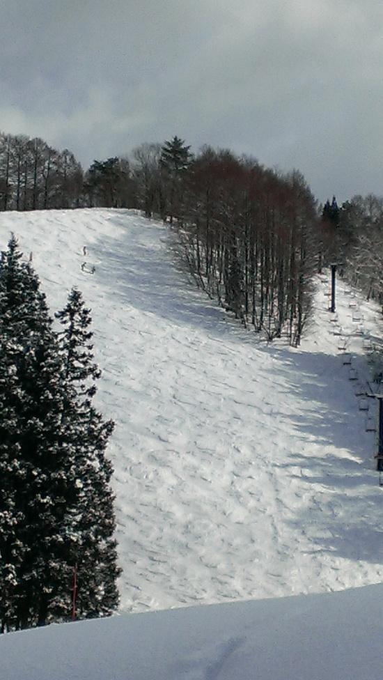 上部は良雪、下部はそろそろ春 野沢温泉スキー場のクチコミ画像