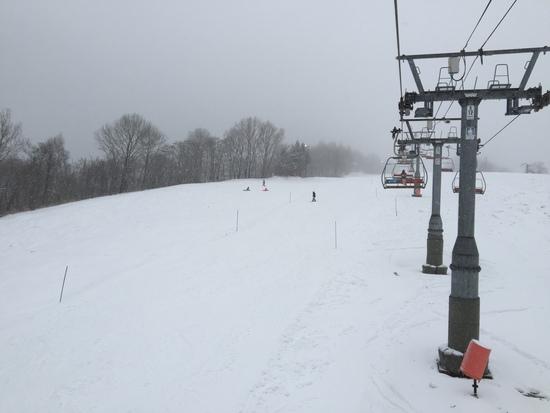 雪不足|ハチ・ハチ北スキー場のクチコミ画像