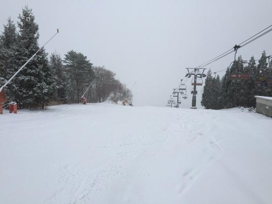 雪不足|ハチ・ハチ北スキー場のクチコミ画像2