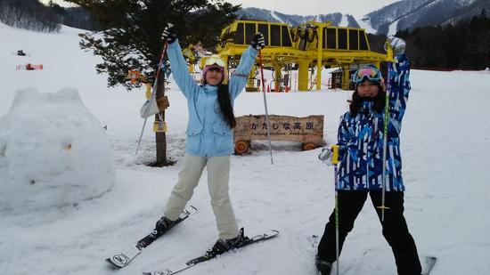 姉妹でハッピースキー|かたしな高原スキー場のクチコミ画像