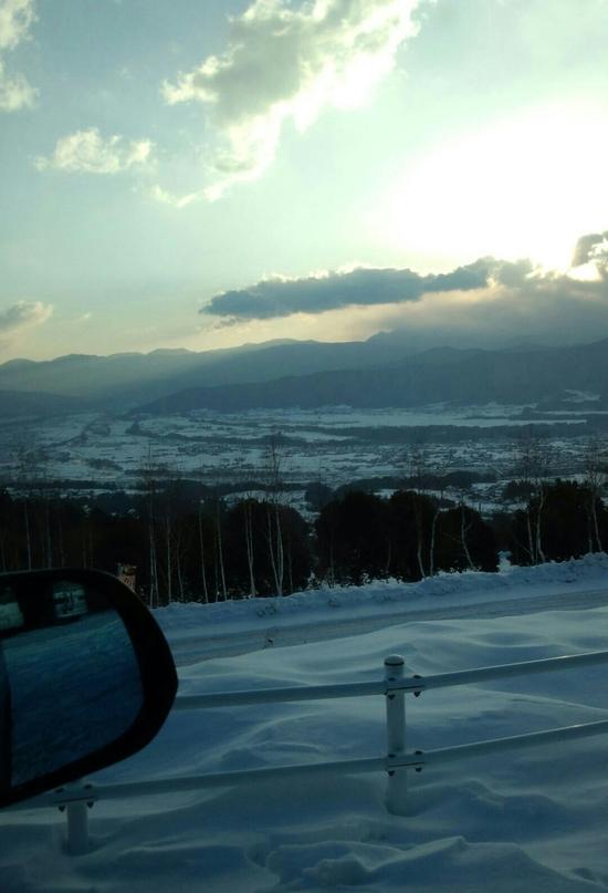凍結路です。 中央道 伊那スキーリゾートのクチコミ画像