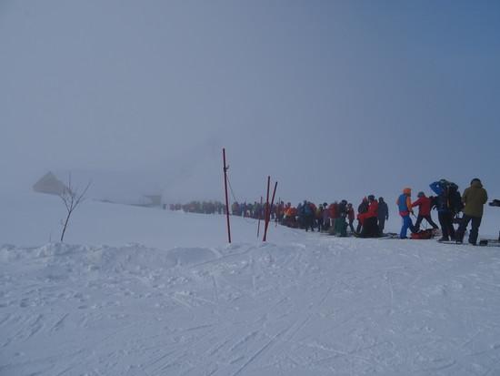 朝いちばんの混み|白馬八方尾根スキー場のクチコミ画像