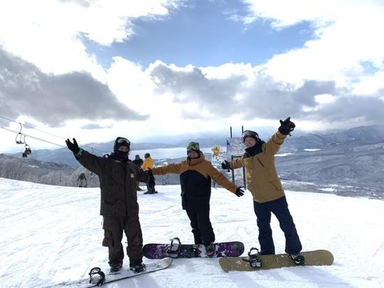 田沢湖を眺めながら たざわ湖スキー場のクチコミ画像1