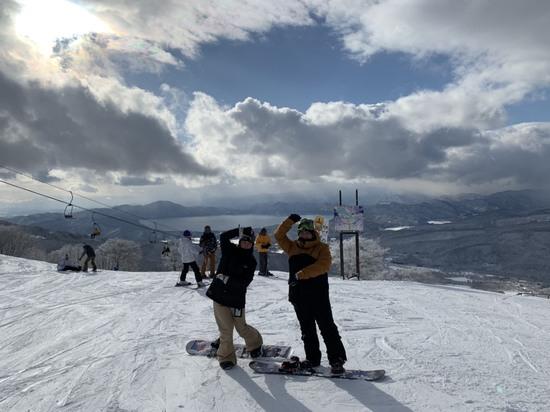 田沢湖を眺めながら たざわ湖スキー場のクチコミ画像2