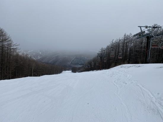 雪質はまあまあ|湯の丸スキー場のクチコミ画像3
