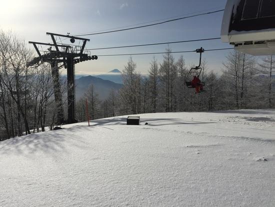 今日は朝から最高|サンメドウズ清里スキー場のクチコミ画像1