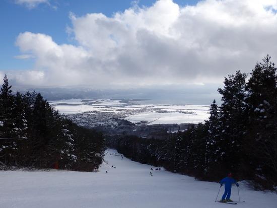 猪苗代湖が見えると気分がいい 猪苗代スキー場[中央×ミネロ]のクチコミ画像