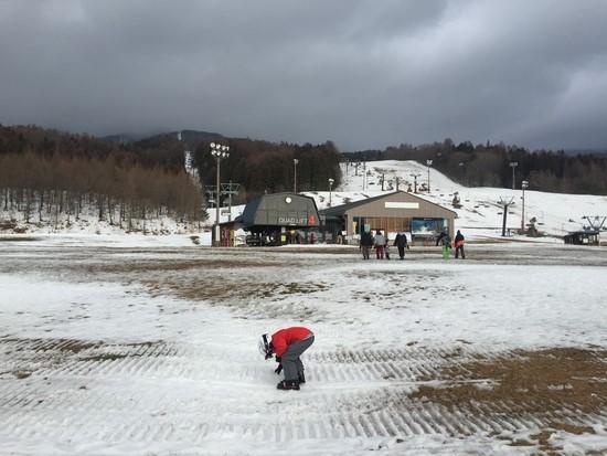 残念ながら雪が少なかったです|星野リゾート アルツ磐梯のクチコミ画像