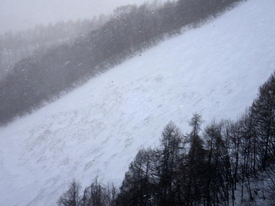 エキスパートコースの雪崩|ホワイトワールド尾瀬岩鞍のクチコミ画像