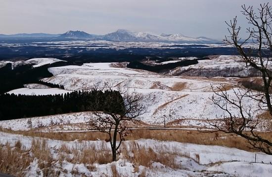 雪景色の阿蘇五岳|九重スキー場のクチコミ画像