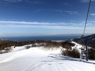山頂から石狩湾を望む|朝里川温泉スキー場のクチコミ画像2