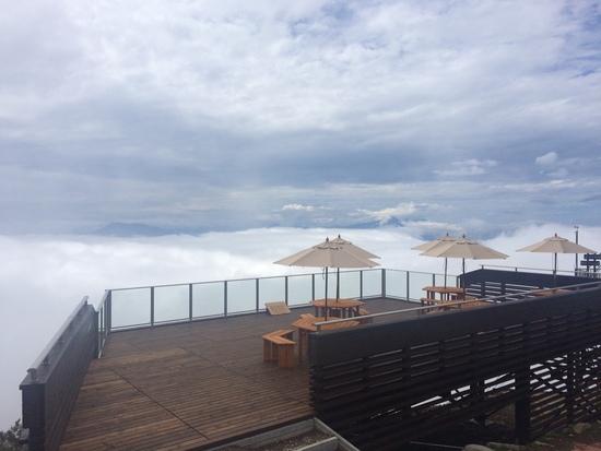 雲海見れました!北志賀 竜王山頂にSORA terraceできてました。|竜王スキーパークのクチコミ画像