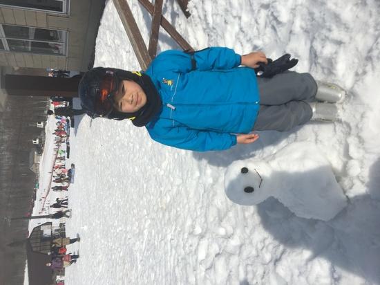 雪だるまと息子|グランデコスノーリゾートのクチコミ画像