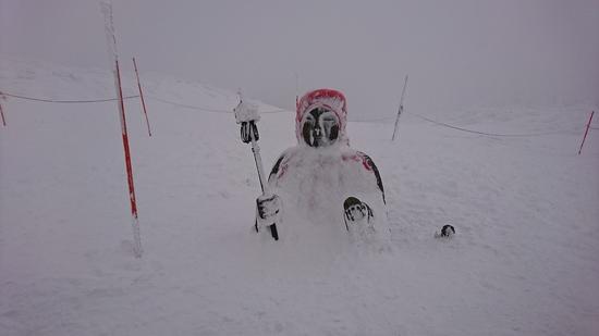 今年のお地蔵さんは埋まってますよ|蔵王温泉スキー場のクチコミ画像