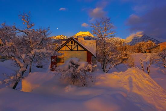 朝焼けの妙高山|赤倉観光リゾートスキー場のクチコミ画像