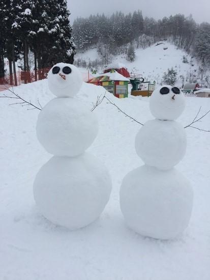 背の高い雪だるま|鷲ヶ岳スキー場のクチコミ画像