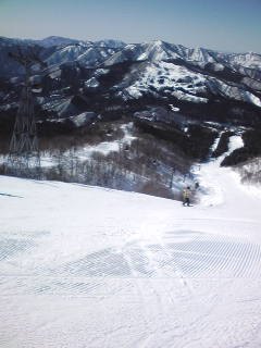 雪質も良好で、快晴でした|ウイングヒルズ白鳥リゾートのクチコミ画像