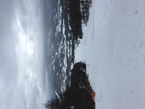 暖かい一日 雪が解ける|菅平パインビークスキー場のクチコミ画像