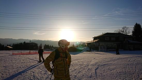 朝イチリーゼン!|白馬八方尾根スキー場のクチコミ画像