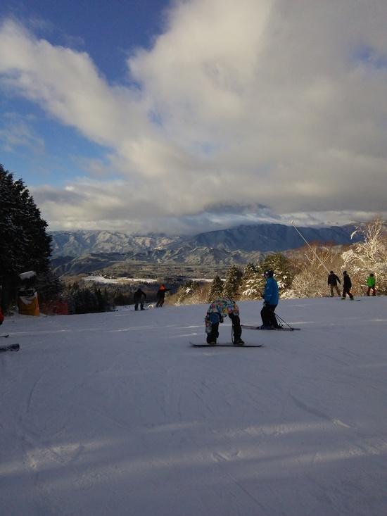 雪が足りない|鷲ヶ岳スキー場のクチコミ画像2