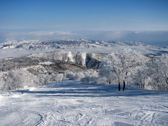 最高の眺望とパウダーを楽しみました|野沢温泉スキー場のクチコミ画像