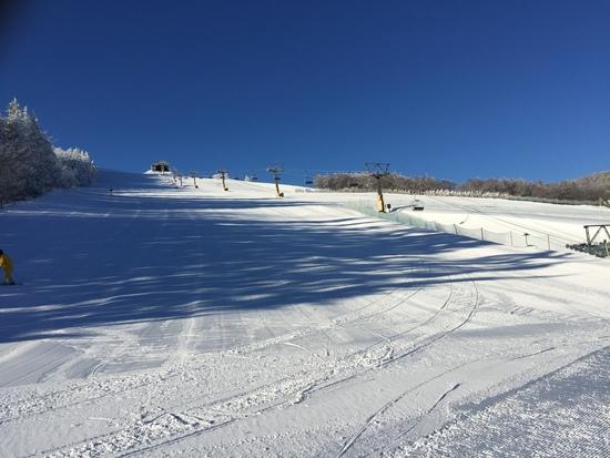 今日晴天で|菅平高原スノーリゾートのクチコミ画像