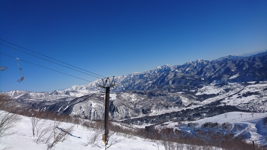 今シーズン初の青空|白馬八方尾根スキー場のクチコミ画像