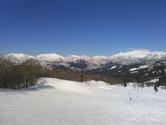 見晴らしの良いゲレンデで、コース外が広く新雪が楽しめる|スノーウェーブパーク白鳥高原のクチコミ画像