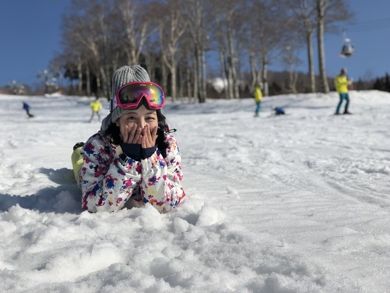 雪がふわふわでコースが長い!|スキージャム勝山のクチコミ画像