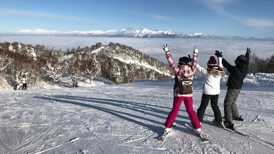 大雪山と雲海  最高です!|富良野スキー場のクチコミ画像