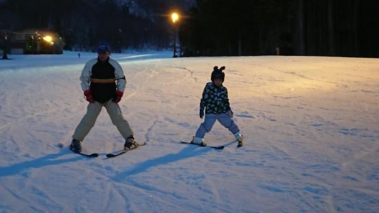 はじめてのナイター|箕輪スキー場のクチコミ画像