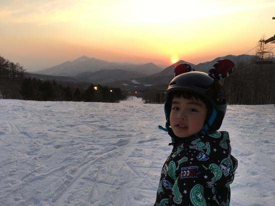 はじめてのナイター|箕輪スキー場のクチコミ画像2
