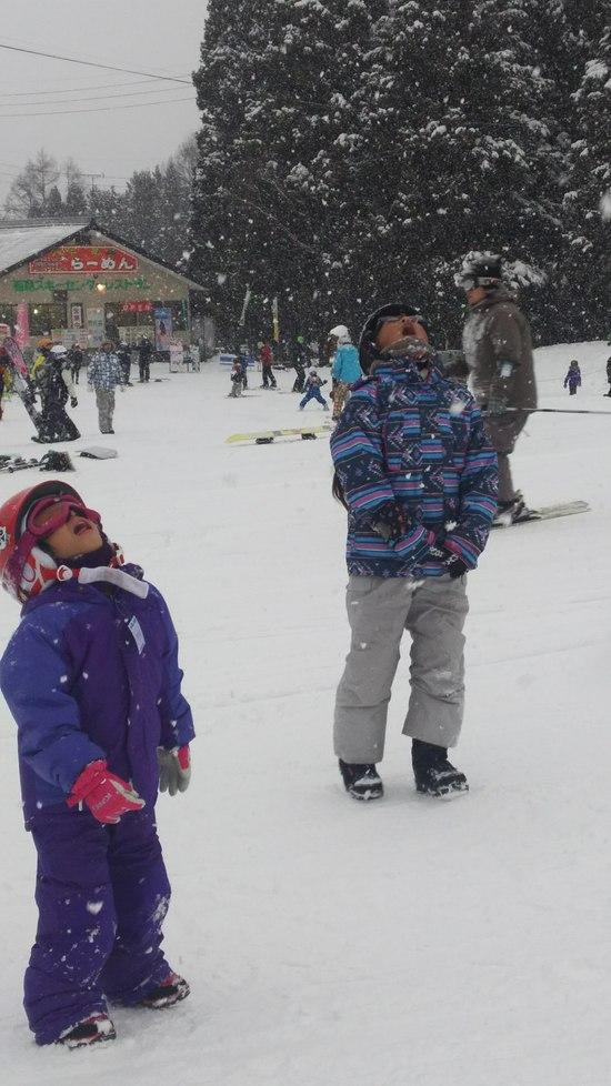 空からかき氷が降ってきたー!|エイブル白馬五竜のクチコミ画像