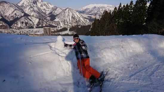 初めて作った雪だるまと|NASPAスキーガーデンのクチコミ画像2