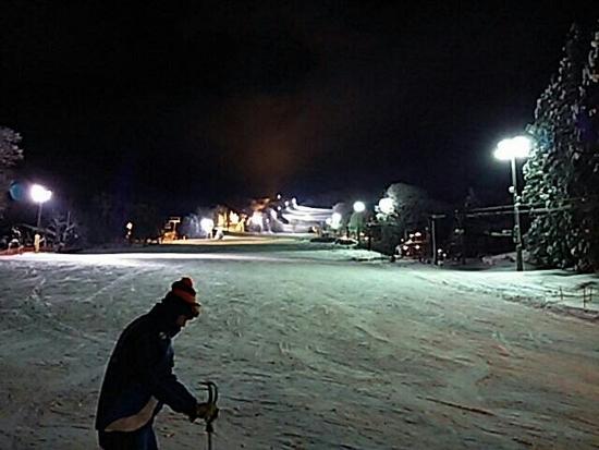 今シーズン初ナイター|蔵王温泉スキー場のクチコミ画像