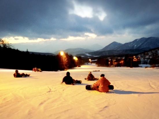 終了間際|箕輪スキー場のクチコミ画像