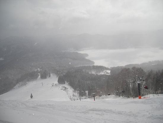 温度低く雪軽い、景色も最高|白馬さのさかスキー場のクチコミ画像