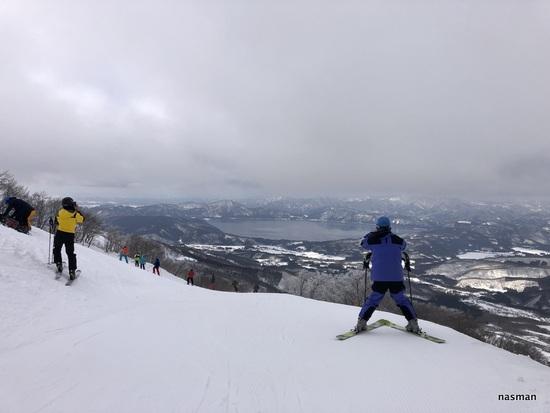 コースが広く景色がよく斜度も適度な良いスキー場 たざわ湖スキー場のクチコミ画像2