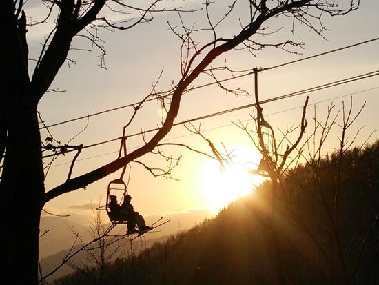 恋人たちのペアリフト|札幌藻岩山スキー場のクチコミ画像