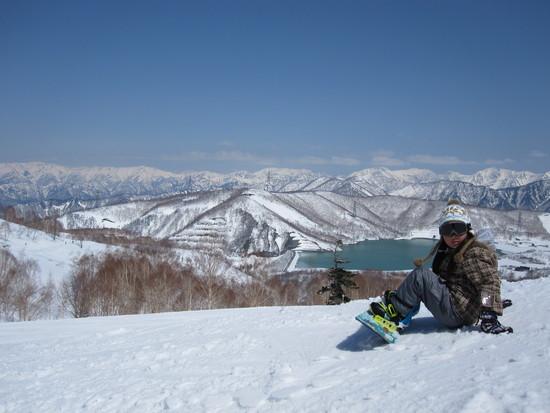 湖が見える景色は最高!|かぐらスキー場のクチコミ画像