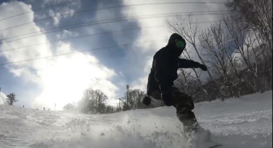 ビギナーコースでグラトリ練習|かぐらスキー場のクチコミ画像
