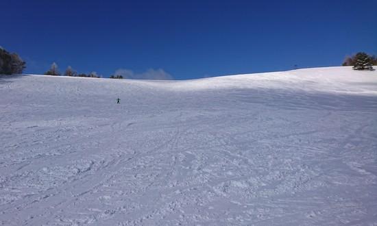 山頂方面 平たいところ多かった|菅平高原スノーリゾートのクチコミ画像
