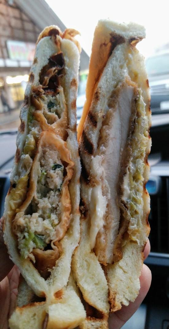 餃子サンドイッチ|めいほうスキー場のクチコミ画像