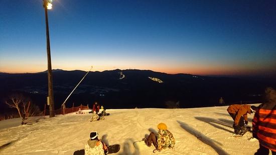 早朝スキー